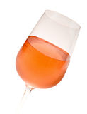 Wineglass With Pink Wine Stock Photo