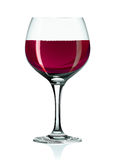 Wineglass and red wine Royalty Free Stock Photos