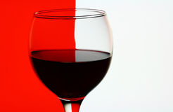 Wineglass with red wine Royalty Free Stock Photos