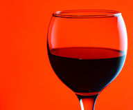 Wineglass with red wine Royalty Free Stock Image
