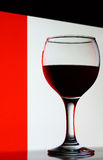 Wineglass with red wine Stock Photos