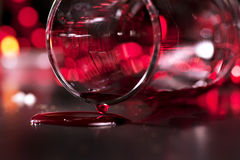 Wineglass with red wine Stock Image