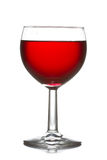 Wineglass with red wine. Over a white background Stock Photos