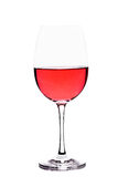Wineglass with rosè wine Royalty Free Stock Photography