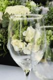 Wineglass and roses Royalty Free Stock Photos