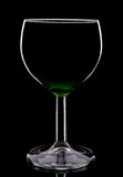 Wineglass silhouette Stock Images