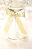 Wineglass on silk background Stock Photos