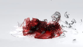 Wineglass Smashing On Floor. Wineglass Smashing On The Floor stock illustration