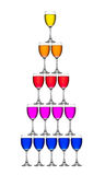 Wineglass sort by vertical Stock Images