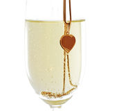 Wineglass with sparkling wine Royalty Free Stock Photo