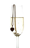 Wineglass with sparkling wine Royalty Free Stock Image
