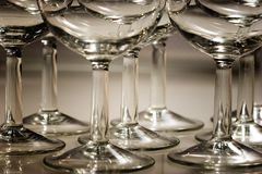Wineglass Stems Royalty Free Stock Image