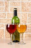 Wineglass on stone background Royalty Free Stock Images