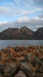 Wineglass Tasmania portreta Podpalany widok Zdjęcia Stock