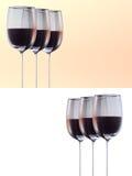 Wineglass three set Royalty Free Stock Photo