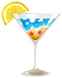 A wineglass with a touch of summer Stock Image