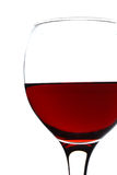 Wineglass on white Stock Photography