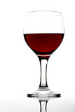 Wineglass on white Royalty Free Stock Images
