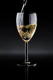 Wineglass with wine Stock Images