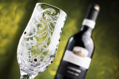 Wineglass and wine Royalty Free Stock Photography