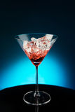 Wineglass with the wine and ice Royalty Free Stock Photos