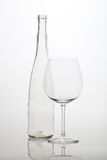 Wineglass and winebottle Royalty Free Stock Images