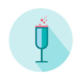 Wineglass for woman  icon. Beauty and accessoires. Wineglass for woman  icon. Beauty and accessoires Stock Image