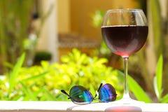 Wineglass z zimnym sangria Zdjęcie Stock