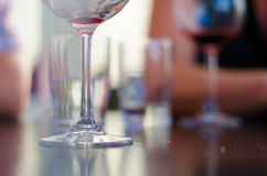 Wineglasses in bar Royalty Free Stock Photos