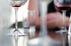 Wineglasses in bar Stock Image