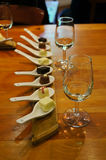 Wineglasses with chocolate. Royalty Free Stock Photos