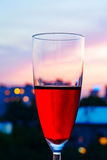 Wineglasses close-up Stock Image