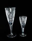 Wineglasses couple. On black background Stock Photo