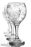 Wineglasses covered with soap foam Royalty Free Stock Images