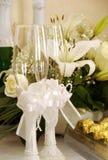 Wineglasses decorados Fotos de Stock