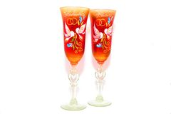 Wineglasses do casamento Imagem de Stock
