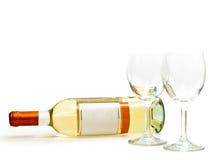 wineglasses för vit wine Arkivbild