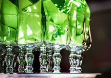 Wineglasses and napkins Royalty Free Stock Photography