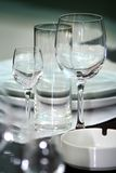 Wineglasses / Restaurant Royalty Free Stock Photography