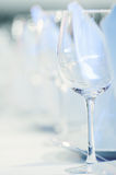Wineglasses in a row Stock Photos