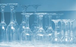 Wineglasses vazios Foto de Stock Royalty Free