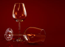 Wineglasses vazios Imagem de Stock Royalty Free