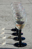 Wineglasses. For wine at a wedding Stock Photos