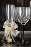 Wineglasses. For wine at a wedding Stock Photography