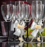 Wineglasses. For wine at a wedding Royalty Free Stock Photo