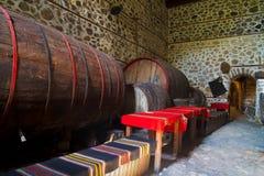 Winekällare Arkivfoto