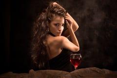 winekvinna Arkivfoto