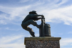 Winemaker City Statue. In Napa Valley California royalty free stock images