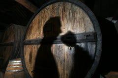 Winemaker probeert aan wijn het proeven Stock Afbeelding