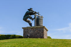 Winemaker Statue in Napa Valley Royalty Free Stock Image